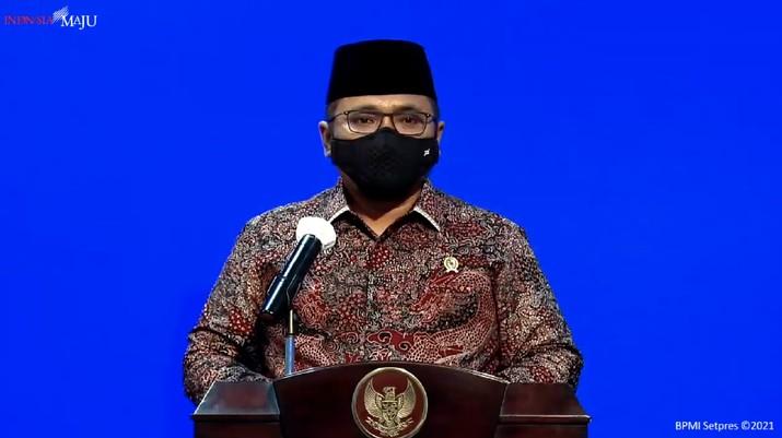 Menteri Agama (Menag) Yaqut Cholil Qoumas (Tangkapan Layar Youtube Sekretariat Presiden)