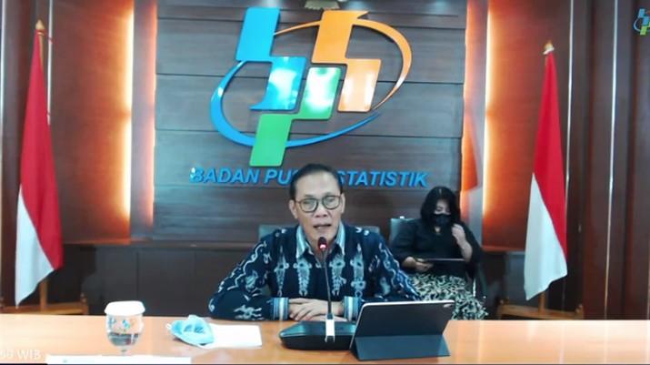 Kepala Badan Pusat Statistik (BPS) Kecuk Suhariyanto saat rilis Pertumbuhan Ekonomi Triwulan IV Tahun 2020  (Tangkapan Layar Youtube BPS Statistics)