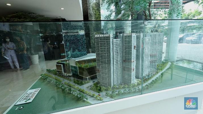 Trans Property menjalin kerja sama dengan Travelio sewa unit apartemen, Jakarta, Jumat (5/2/2021). Saat ini,Trans Property dikenal sebagai Properti developer yang sudah mengembangkan sejumlah kawasan mixed use atau Superblok berkelas yang langsung menjadi incaran masyarakat.   (CNBC Indonesia/ Tri Susilo)