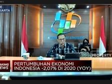 Pertumbuhan Ekonomi RI -2,07% (yoy) di Tahun 2020