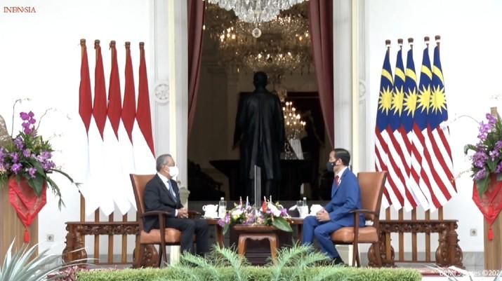Upacara Penyambutan Resmi Perdana Menteri Malaysia, Istana Kepresidenan Jakarta (Tangkapan Layar Sekretariat Presiden)