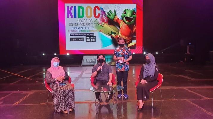 Meski Online, Anak-anak Antusias Ikuti Lomba Mewarnai di Trans Studio Bandung. (Ist Trans Studio)