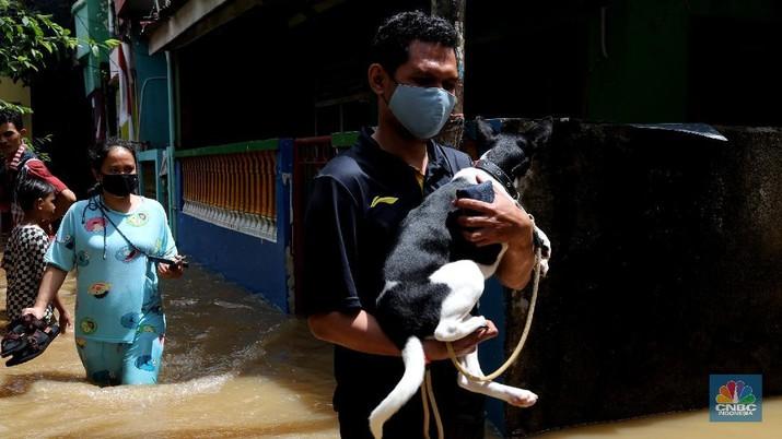Banjir di Kampung Melayu Jakarta (CNBC Indonesia/Tri Susilo)