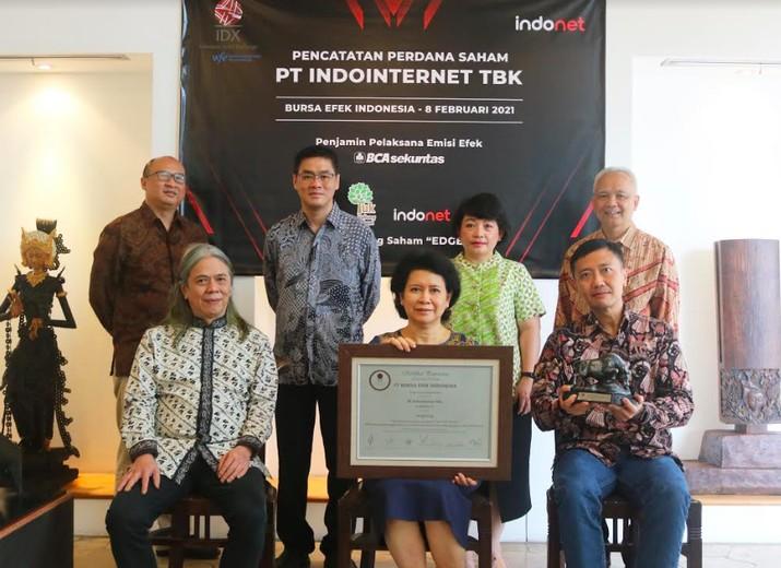 IPO PT Indointernet Tbk (EDGE), 8 Februari 2021/Dok BEI