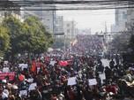 Menyemut! Penampakan Ribuan Warga Myanmar Demo Kecam Kudeta