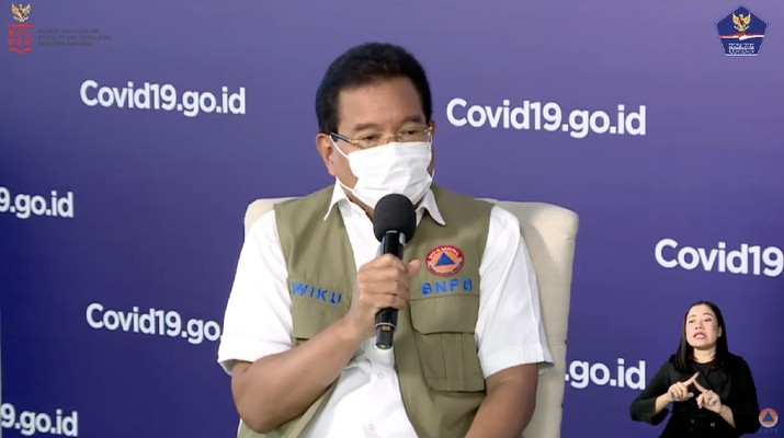 Wiku Adisasmito juru bicara gugus tugas percepatan penanganan Corona.  (Youtube/BNPB)