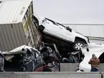 Tragis! Penampakan Tabrakan Beruntun 130 Kendaraan di Texas