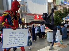 Ada 'Spiderman' Demo Protes Kudeta Militer Myanmar