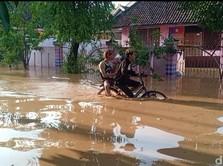 Banjir 'Kepung' Nganjuk Jatim, 4 Kelurahan Masih Terendam