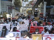 Kembali Chaos, Demo Terbesar Terjadi di Sejarah Myanmar