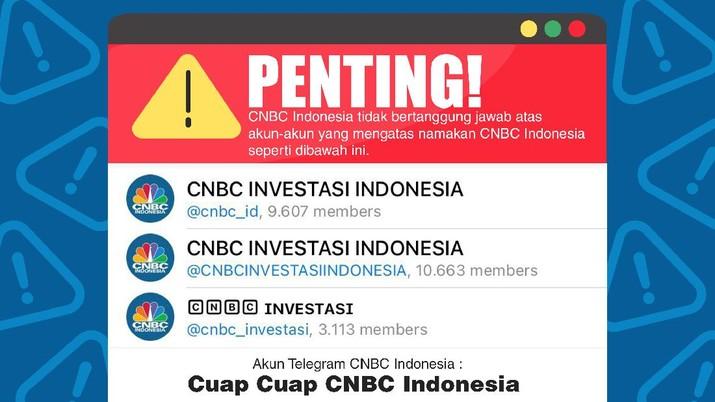 Penipuan mengatasnamakan CNBC Indonesia/Aristya Rahadian