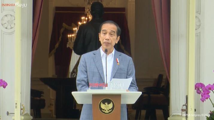 Jokowi di acara Pengenalan Dewan Pengawas dan Dewan Direktur Lembaga Pengelola Investasi, 16 Februari 2021 (Youtube BPMI)