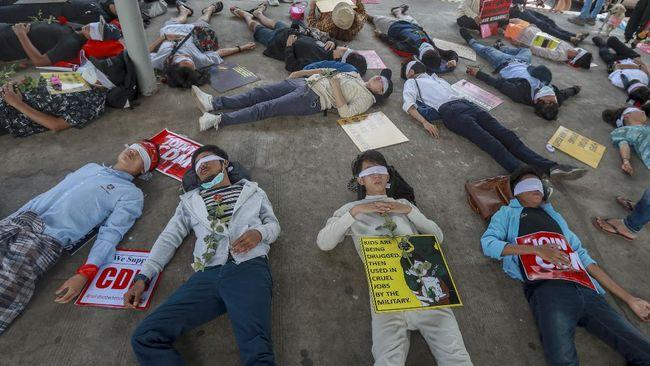 Ditembak di Kepala, Pengunjuk Rasa Myanmar Meninggal Dunia