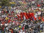 Myanmar Makin Membara, Warga Demo Besar Lawan Militer