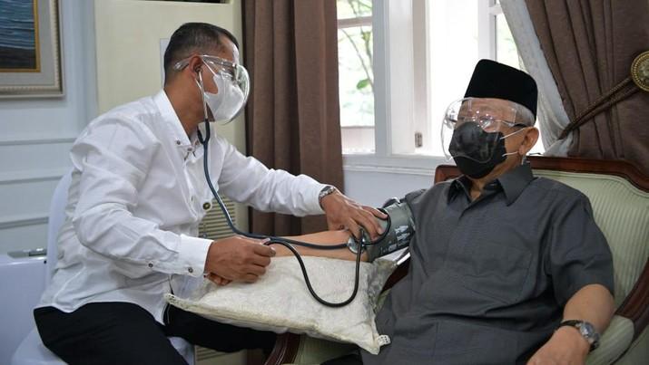 Pemberian vaksin kepada Wapres K. H. Ma'ruf Amin rencananya akan dilaksanakan pada Rabu (17/02/21), pukul 08.30 pagi, di Pendopo Kediaman Resmi Wapres, Jalan Diponegoro No. 2 Jakarta. (Dok Setwapres)