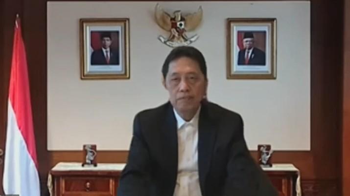 Heru Kristiyana, Kepala Eksekutif Pengawasan Perbankan OJK dalam acara Launching Roadmap Pengembangan Perbankan Indonesia (RP2I) 2020-2025. (Tangkapan Layar Youtube Jasa Keuangan)