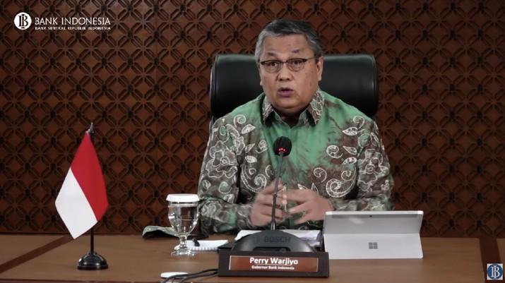 Pengumuman Hasil Rapat Dewan Gubernur (RDG) Bulanan Februari 2021 Cakupan Triwulanan (Tangkapan Layar Youtube BI)
