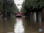 Sepinggang Orang Dewasa, Jatibening Permai Dikepung Banjir