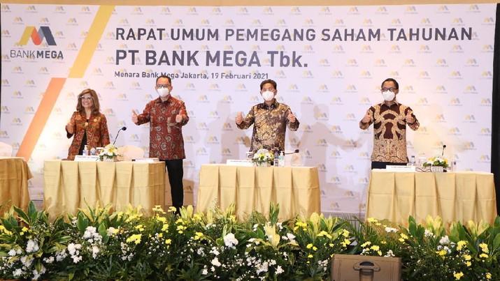 Rapat Umum Pemegang Saham Tahunan PT. Bank Mega (Tbk). (Dok. Bank Mega)