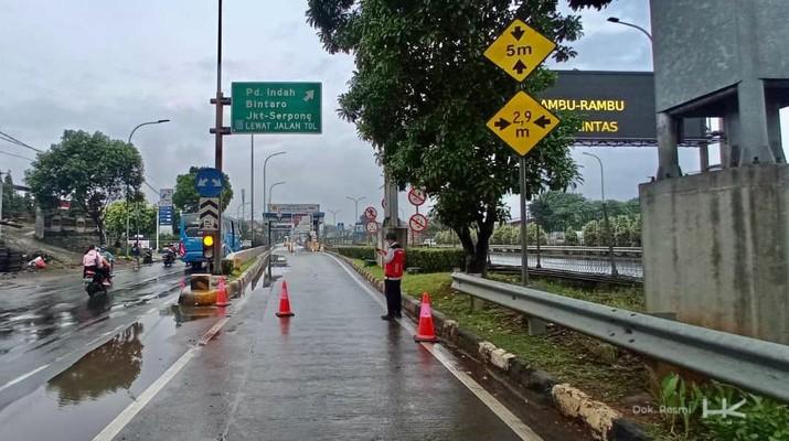 Fokus Pada Penanganan Genangan Banjir, Hutama Karya Tutup Sementara Beberapa Gerbang Tol di JORR-S dan Imbau Pengguna Cari Jalan Alternatif. (Dok. HK)