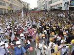 Sudah Ada Korban Nyawa, Ribuan Pendemo Myanmar Tak Menyerah!