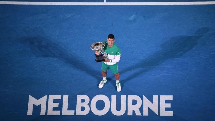 Novak Djokovic usai memenangi Australian Open 2021