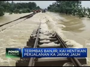 Akibat Banjir, KAI Setop Perjalanan Jarak Jauh
