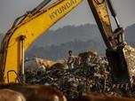 Mirip Bantargebang, Ini Pemandangan Gunungan Sampah india