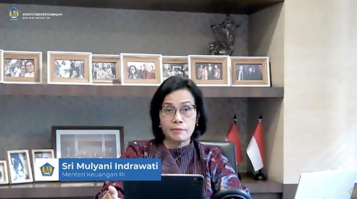 Menteri Keuangan Sri mulyani Memberikan Keterangan Pers mengenai APBN KITA (Tangkapan Layar Youtube Kemenkeu RI)