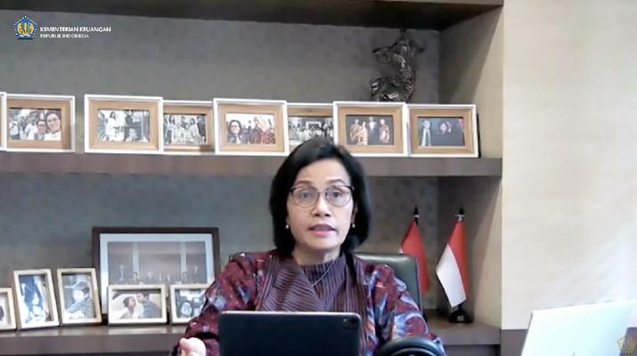 Menteri Keuangan Srimulyani Memberikan Keterangan Pers mengenai APBN KITA (Tangkapan Layar Youtube Kemenkeu RI)