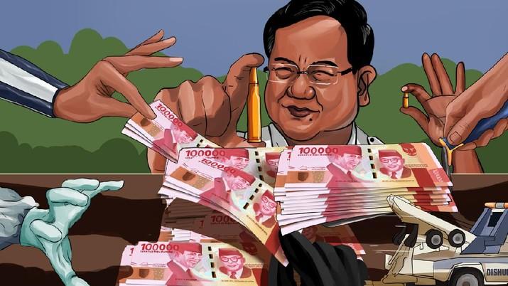 INFOGRAFIS, 'Jajan' Prabowo Melesat 101% di Awal 2021, Untuk Apa Saja?