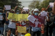 Penuh Kawat Berduri, Potret Kedubes RI Didemo di Myanmar