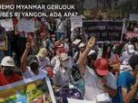 Pendemo Myanmar Geruduk Kedubes RI Yangon, Ada Apa?
