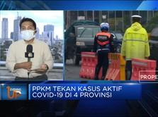 PPKM Tekan Kasus Aktif Covid-19 di 4 Provinsi