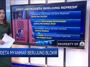 Kudeta Myanmar Berujung Blokir