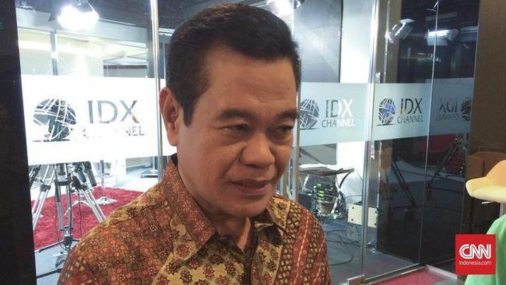 Direktur Utama Bursa Efek Jakarta periode 1991-1996, Hasan Zein Mahmud. (CNN Indonesia/Giras Pasopati)