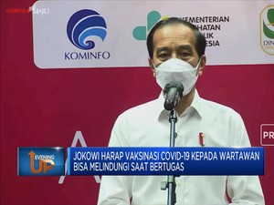 Harapan Jokowi di Program Vaksinasi Covid-19 Untuk Wartawan