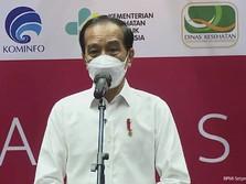 Turun Langsung, Jokowi Tinjau Vaksinasi Awak Media