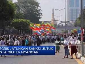 Inggris Jatuhkan Sanksi Untuk Junta Militer Myanmar