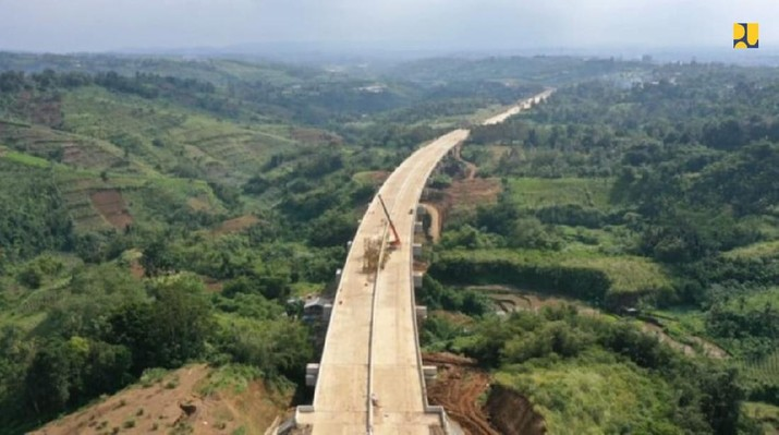 Jalan Tol Ciawi-Sukabumi Seksi Cigombong - Cibadak (Dok. Biro Komunikasi Publik Kementerian PUPR)