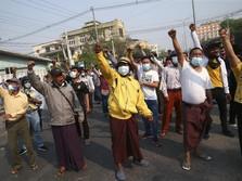 Junta Tembak Mati 18 Orang Warga, Media Myanmar Kecam Pendemo