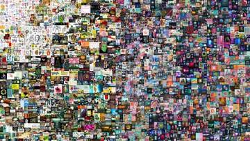 kolase oleh seniman digital beeple yang dilelang di christie ap 169