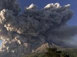 Terbaru! Ini Penampakan Erupsi Gunung Sinabung Sampai 5 KM