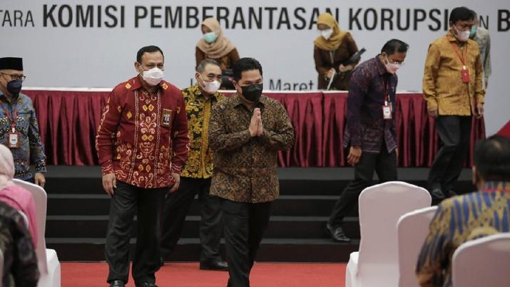 Komisi Pemberantasan Korupsi (KPK) dan 27 BUMN bekerja sama terkait pencegahan korupsi/Kemen BUMN