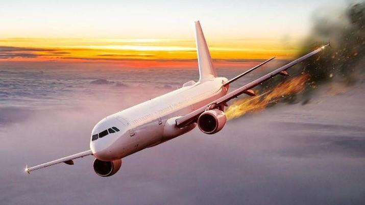 Ilustrasi kecelakaan pesawat. (Istockphoto/Kesu01)
