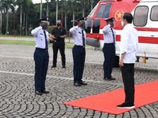 Naik Heli, Jokowi ke Serang Resmikan Bendungan Sindang Heula