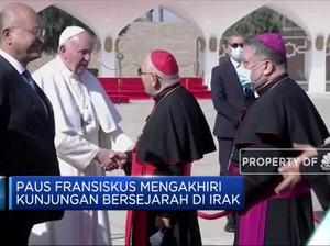 Paus Fransiskus Akhiri Kunjungan Bersejarah di Irak