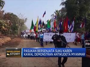Suku Karen Kawal Demonstran Antikudeta Myanmar