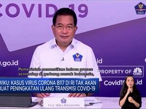 Wiku: Kasus Corona B117 Tak Tingkatkan Transmisi Covid-19 RI