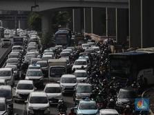 Penampakan Jakarta Macet Saat Hari Pertama PPKM Mikro III